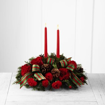 Holiday Classics Centerpiece in Camp Hill and Harrisburg PA, Pealers Flowers