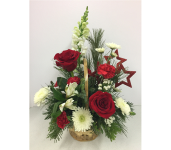 Star of Wonder Basket Bouquet in Geneva NY, Don's Own Flower Shop