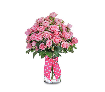 Pink Twinkledotted in Oshkosh WI, Flowers & Leaves LLC