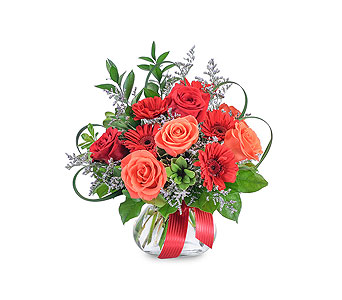 Scarlet Flame in Mount Morris MI, June's Floral Company & Fruit Bouquets