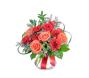 Scarlet Fire in Mount Morris MI, June's Floral Company & Fruit Bouquets