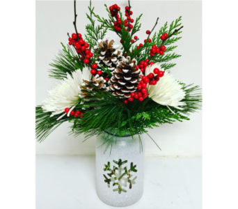 Winter Mason Jar Bouquet - All Around in Wyoming MI, Wyoming Stuyvesant Floral
