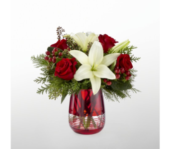 The FTD� Festive Holiday� Bouquet by Vera Wang in Norfolk VA, The Sunflower Florist
