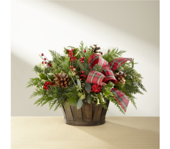The FTD� Holiday Homecomings� Basket in Norfolk VA, The Sunflower Florist