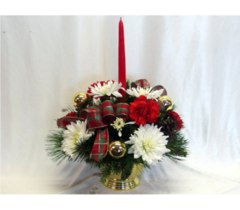 Christmas Cheer Centerpiece in Hollidaysburg PA, Warner's Florist Gifts & Greenhouse