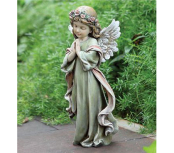 Napco Little Girl Angel Statue in Hendersonville TN, Brown's Florist