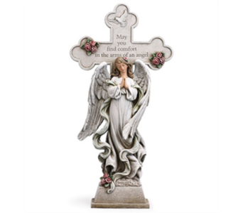 Napco Praying Cross Angel Figurine in Hendersonville TN, Brown's Florist