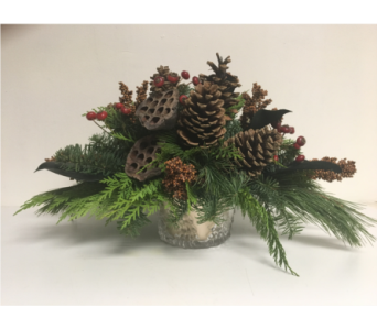 Winter Woodland Elegance Centerpiece in Wyoming MI, Wyoming Stuyvesant Floral