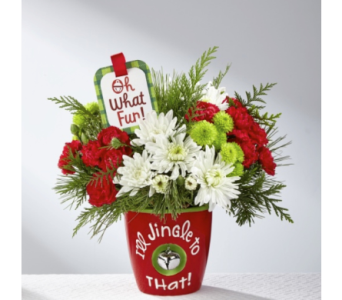 Jingle Mug (The FTD I'll Jingle to That Bouquet by in Cleveland OH, Orban's Fruit & Flowers