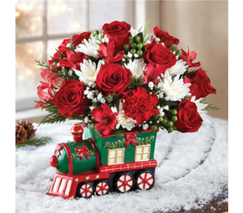 Christmas Express Train in Pittsburgh PA, Eiseltown Flowers & Gifts