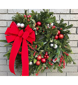 Holiday Wreath in Charleston SC, Tiger Lily Florist Inc.