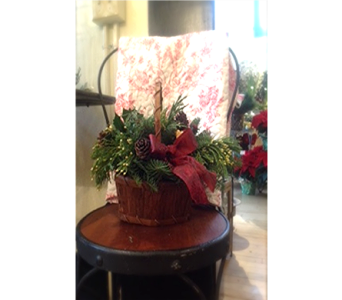 Christmas Basket of Pine in Ellwood City PA, Posies By Patti