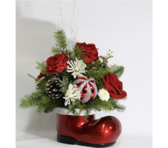 SANTA'S BOOT BOUQUET in Fort Pierce FL, Giordano's Floral Creations