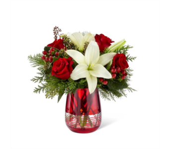 The FTD� Festive Holiday� Bouquet by Vera Wang in Des Moines IA, Doherty's Flowers