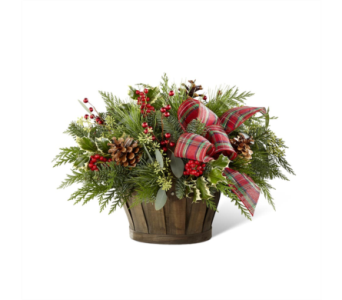 The FTD� Holiday Homecomings� Basket in Des Moines IA, Doherty's Flowers