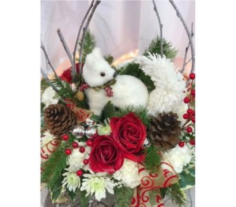 Sherwood's Christmas Fox Arrangement in Spring Hill FL, Sherwood Florist Plus Nursery