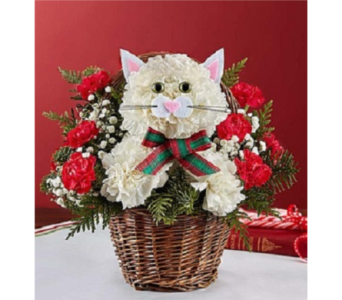 Christmas Caroling Cat  in Palm Desert CA, Milan's Flowers & Gifts