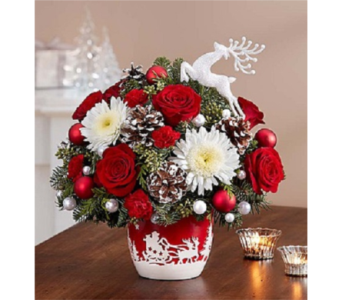 Santa's Sleight Ride Arrangement  in Palm Desert CA, Milan's Flowers & Gifts