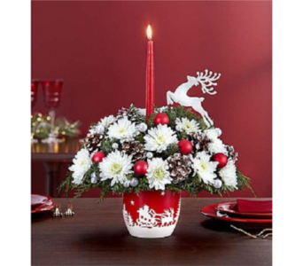 Santa's Sleigh Ride Centerpiece in Palm Desert CA, Milan's Flowers & Gifts