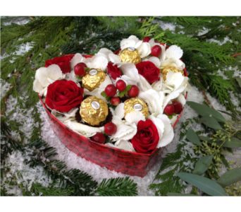 Holiday Heart Box in West Bloomfield MI, Happiness is...Flowers & Gifts