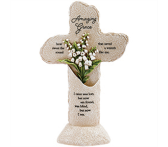 Heavenly Lights - Pedestal Cross - Amazing Grace in East McKeesport PA, Lea's Floral Shop