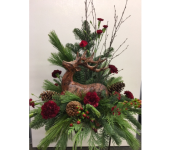 Custom Deer Centerpiece in Derby KS, Mary's Unique Floral & Gift