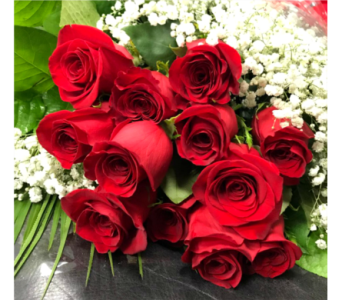 DOZEN PREMIUM LONG STEM ROSES WRAPPED in Arlington VA, Twin Towers Florist
