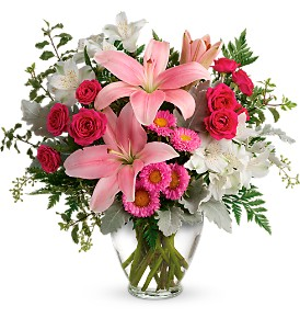Blush Rush Bouquet in Austintown OH, Crystal Vase Florist