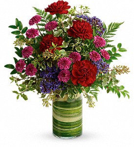 Teleflora's Vivid Love Bouquet in East Quogue NY, Roses And Rice