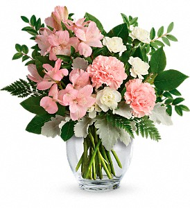 Teleflora's Whisper Soft Bouquet in The Woodlands TX, Rainforest Flowers