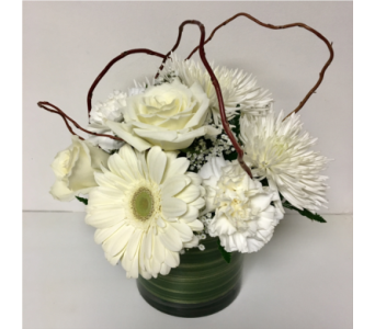 Simply White 5x5 Cylinder Vase in Wyoming MI, Wyoming Stuyvesant Floral