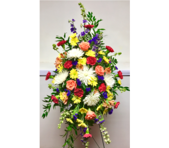 Brighter Days Easel Arrangement in Wyoming MI, Wyoming Stuyvesant Floral
