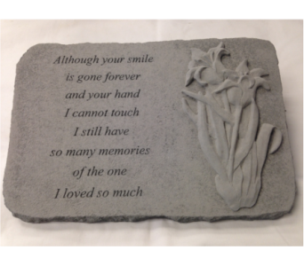 Memory Stone - Although Your Smile in Crafton PA, Sisters Floral Designs