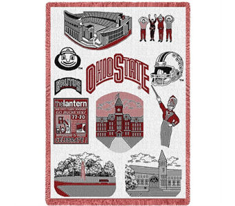 OSU Campus Stadium Blanket in Columbus OH, OSUFLOWERS .COM
