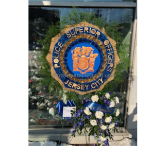 Police Badge in Jersey City NJ, Entenmann's Florist