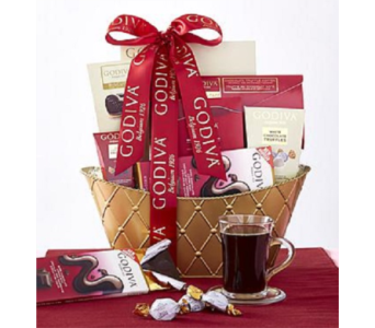 Godiva Valentine Grand Basket in Allentown PA, Ashley's Florist