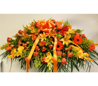 Fall Casket Spray  in Yonkers NY, Beautiful Blooms Florist
