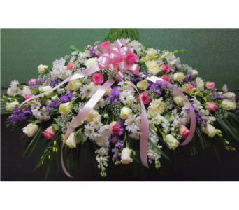 Pink Casket Spray  in Yonkers NY, Beautiful Blooms Florist