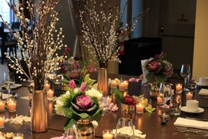 Golden Glow Table Setting in Orangeville ON, Parsons' Florist