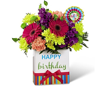 The FTD Birthday Brights Bouquet in Orland Park IL, Sherry's Flower Shoppe