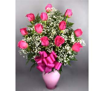 ThinkPink Dozen Roses Bouquet in Columbia TN, Douglas White Florists