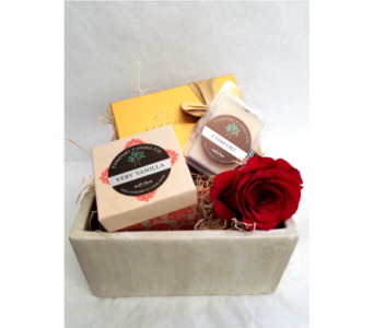 Candle and Chocolate Gift Box in Kerrville TX, Especially Yours