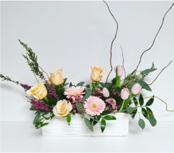 Shimmer and Pink Vintage Centerpiece - All Around in Wyoming MI, Wyoming Stuyvesant Floral