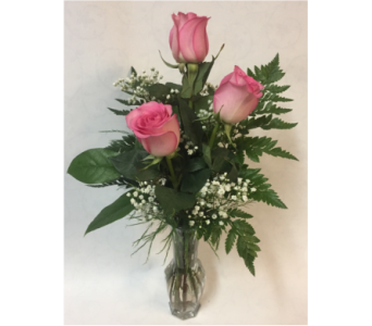 Pink Rose Trio in Philadelphia PA, Schmidt's Florist & Greenhouses