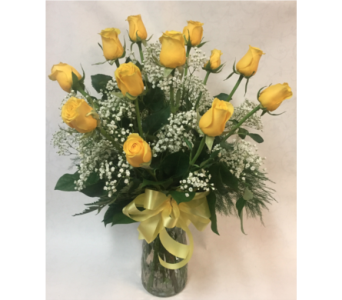 Dozen Yellow Roses in Philadelphia PA, Schmidt's Florist & Greenhouses
