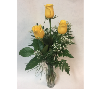Yellow Rose Trio in Philadelphia PA, Schmidt's Florist & Greenhouses