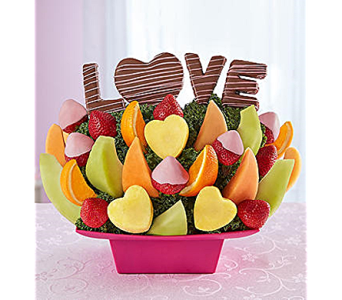 Sweet Love Story in Mount Morris MI, June's Floral Company & Fruit Bouquets