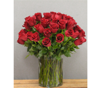60 Classic Red Roses in Houston TX, Breen's Clear Lake Flowers