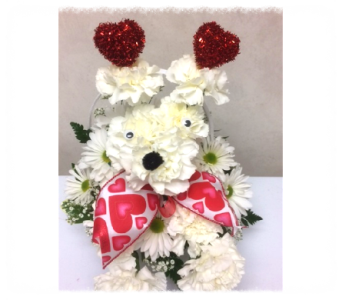 Valentine Cupid Puppy Dog in Big Rapids MI, Patterson's Flowers, Inc.