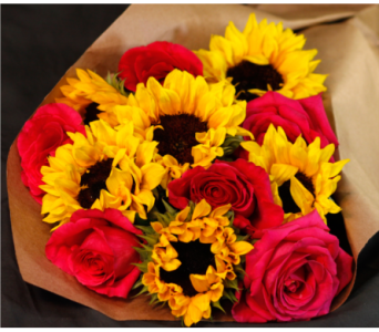 Sunflowers and Roses in Merrick NY, Feldis Florists